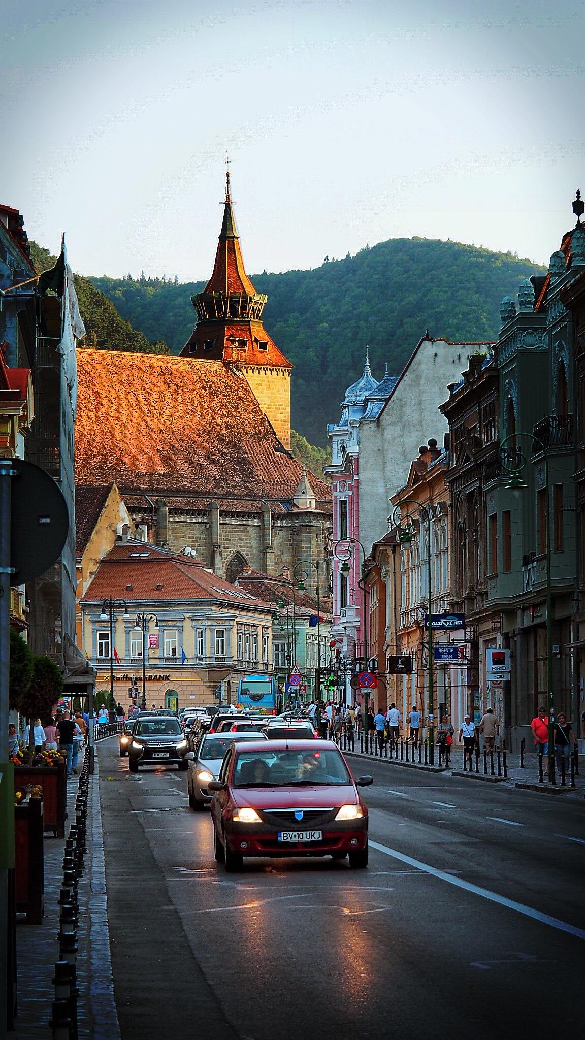 Brașov am Abend