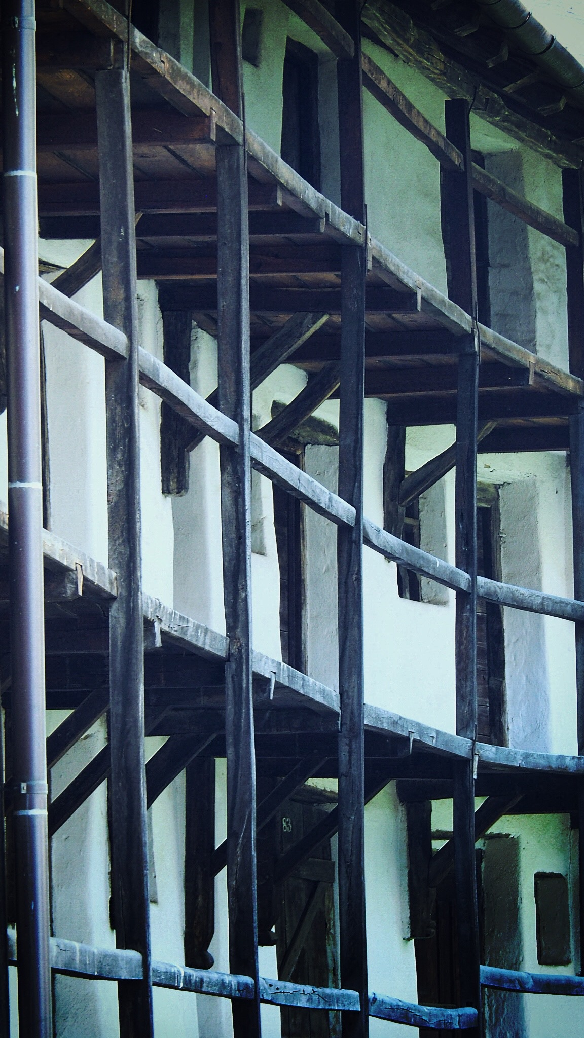 Wehrgang und Wehrkammern der Kirchenburg Prejmer