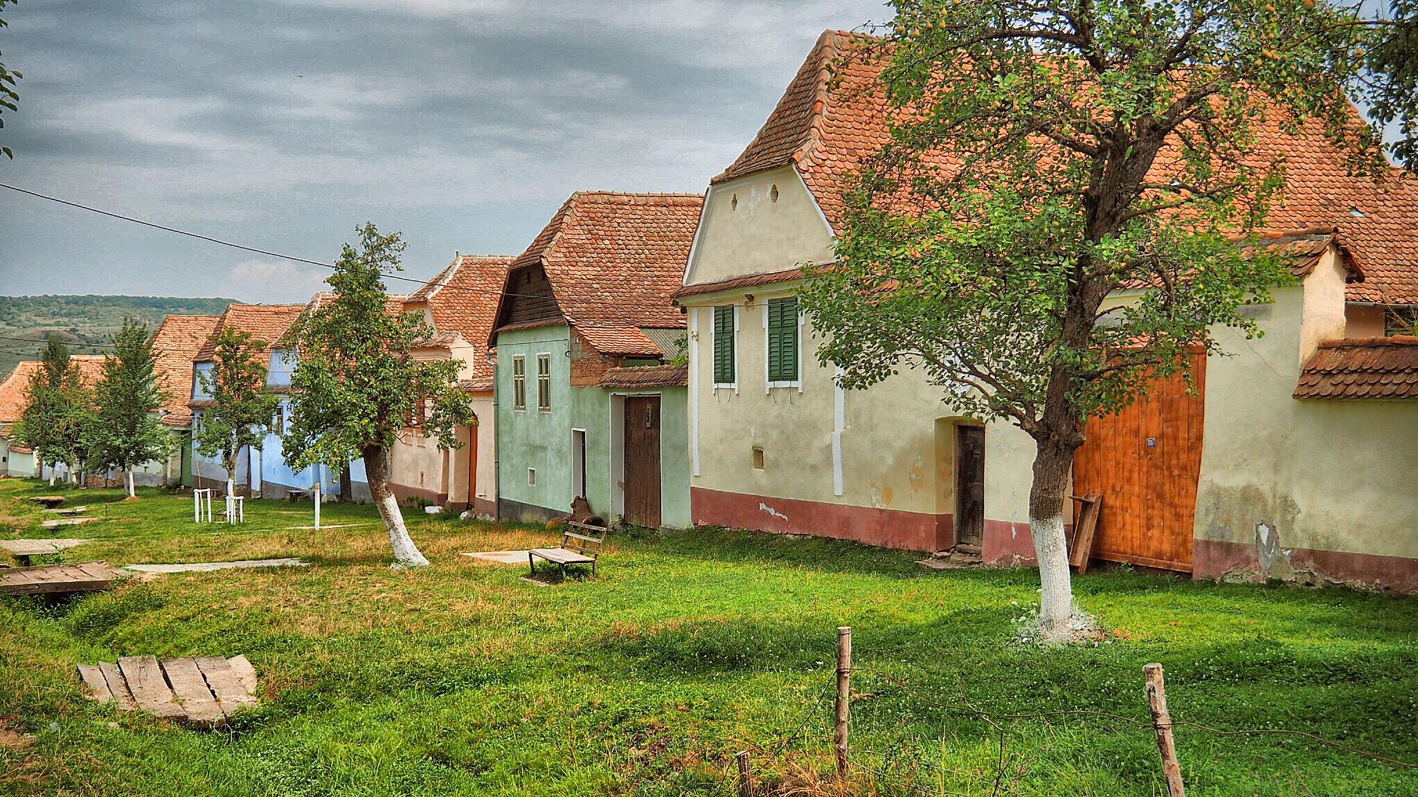 Häuserzeile in Viscri