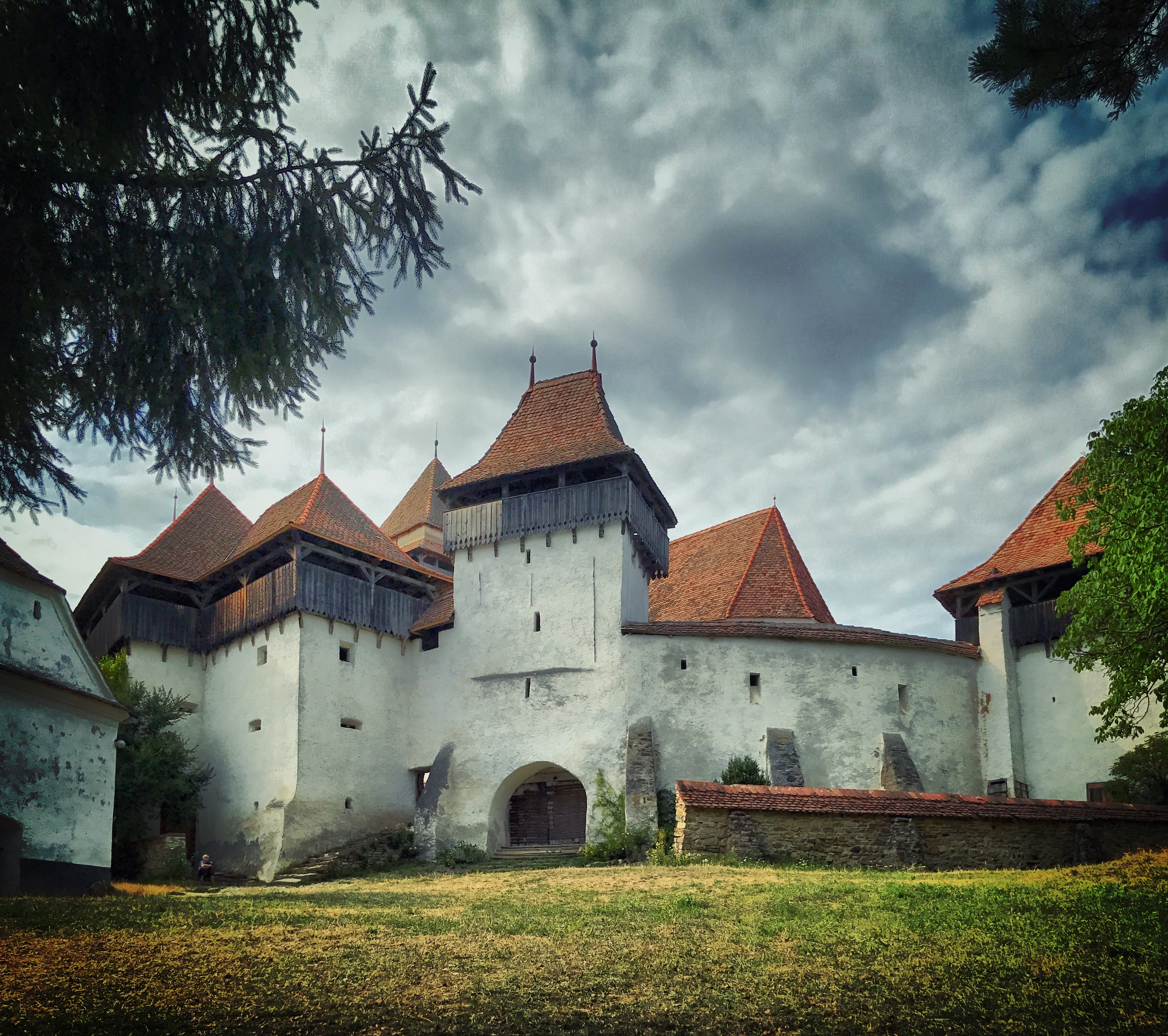 Die berühmte Kirchenburg in Viscri