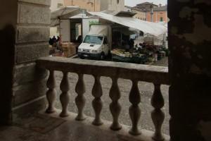 Blick von der Veranda des Fürstenpalastes auf den Markt
