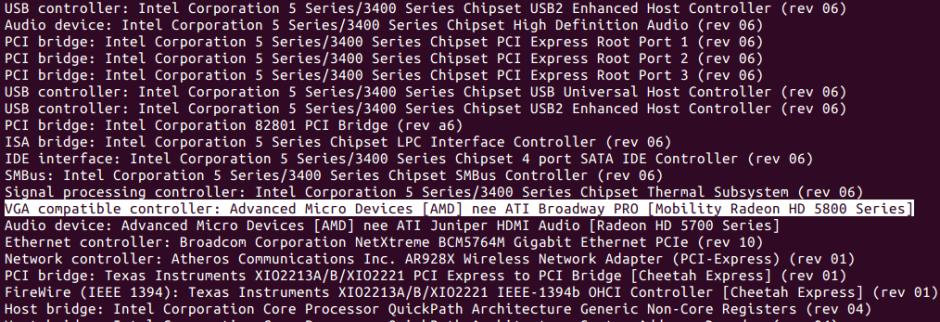 Anzeige der PCI-Geräte unter Linux