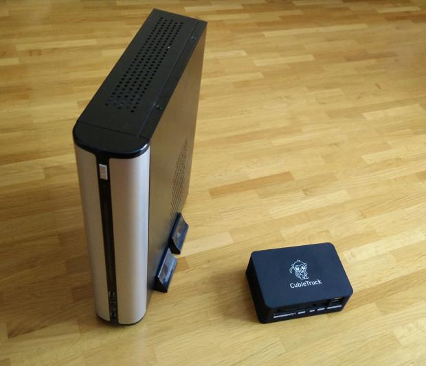 Cubietruck und Booksize-PC