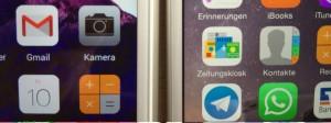 Ultra und iPhone 6 nebeneinander