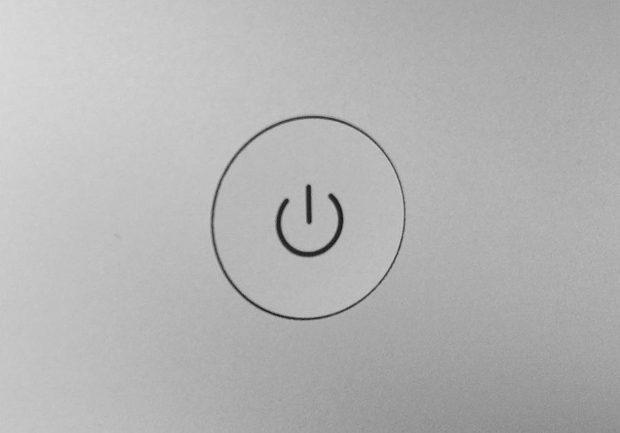 Einschaltknopf beim iMac