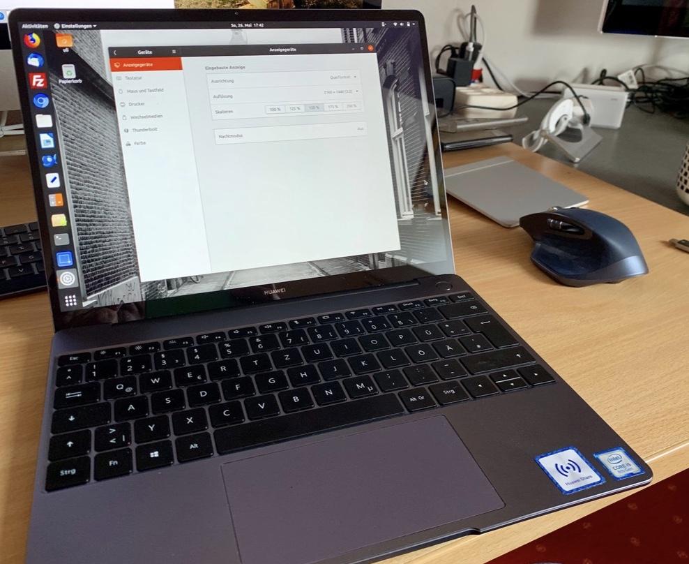 """ubuntu 19.04: """"Krumme"""" Skalierung für HiDPI Monitore"""